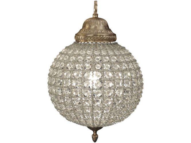 Terrific Crystal Sphere Chandelier Globe Round White
