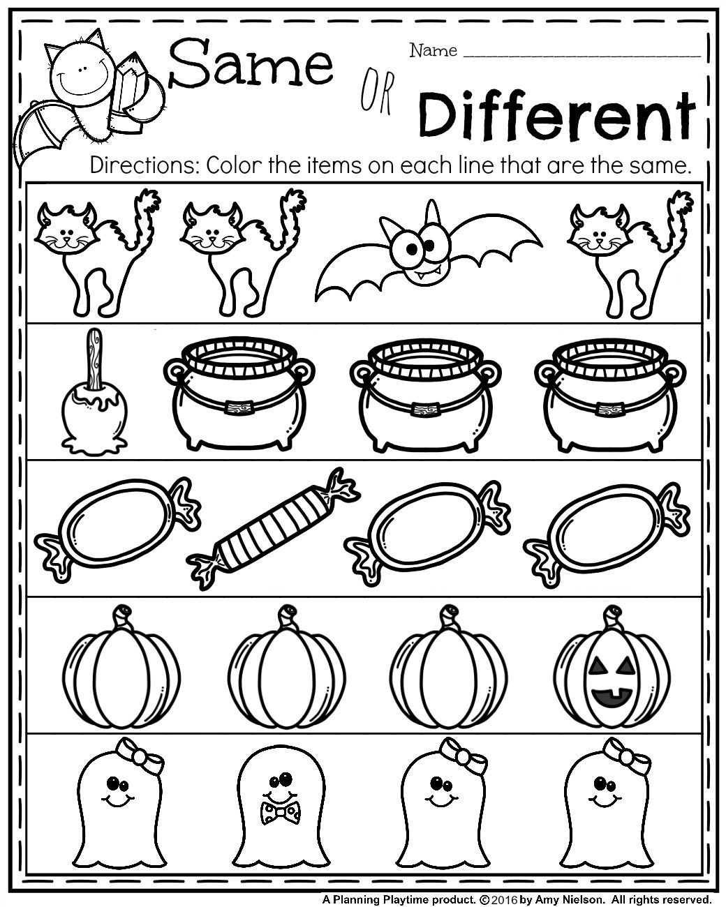 October Preschool Worksheets Worksheets, School and