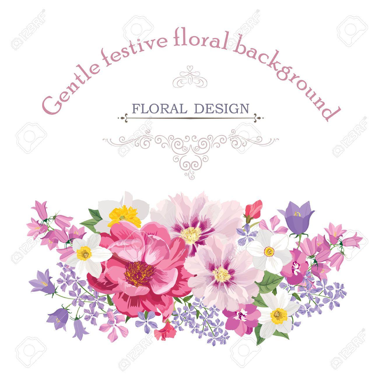 46073574FloralframewithsummerflowersFloralbouquet