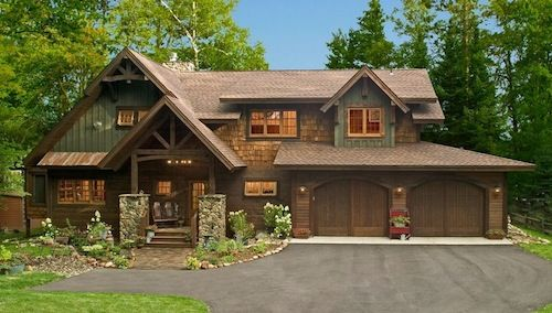 Home Exterior Rustic Log Cabin Idea Jpg 500 284