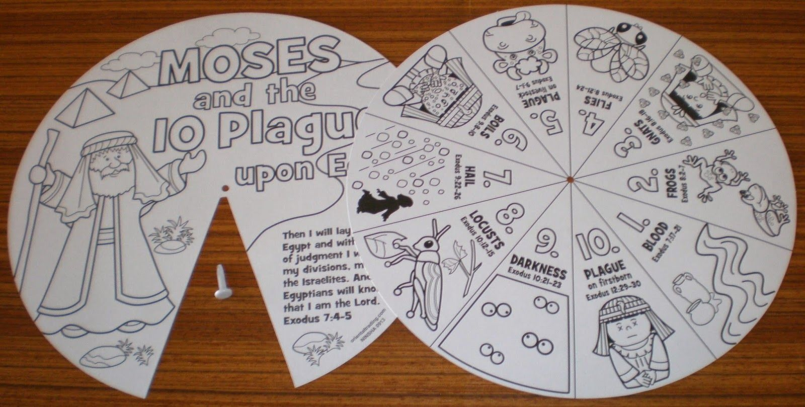 Petersham Bible Book Amp Tract Depot Colour Your Own 10 Plagues Wheel