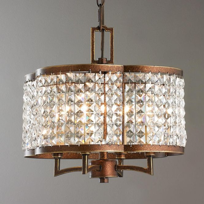 Crystal Scalloped Semi Flush Ceiling Light Clear Faceted Crystals Band A Metal Frame Creating This