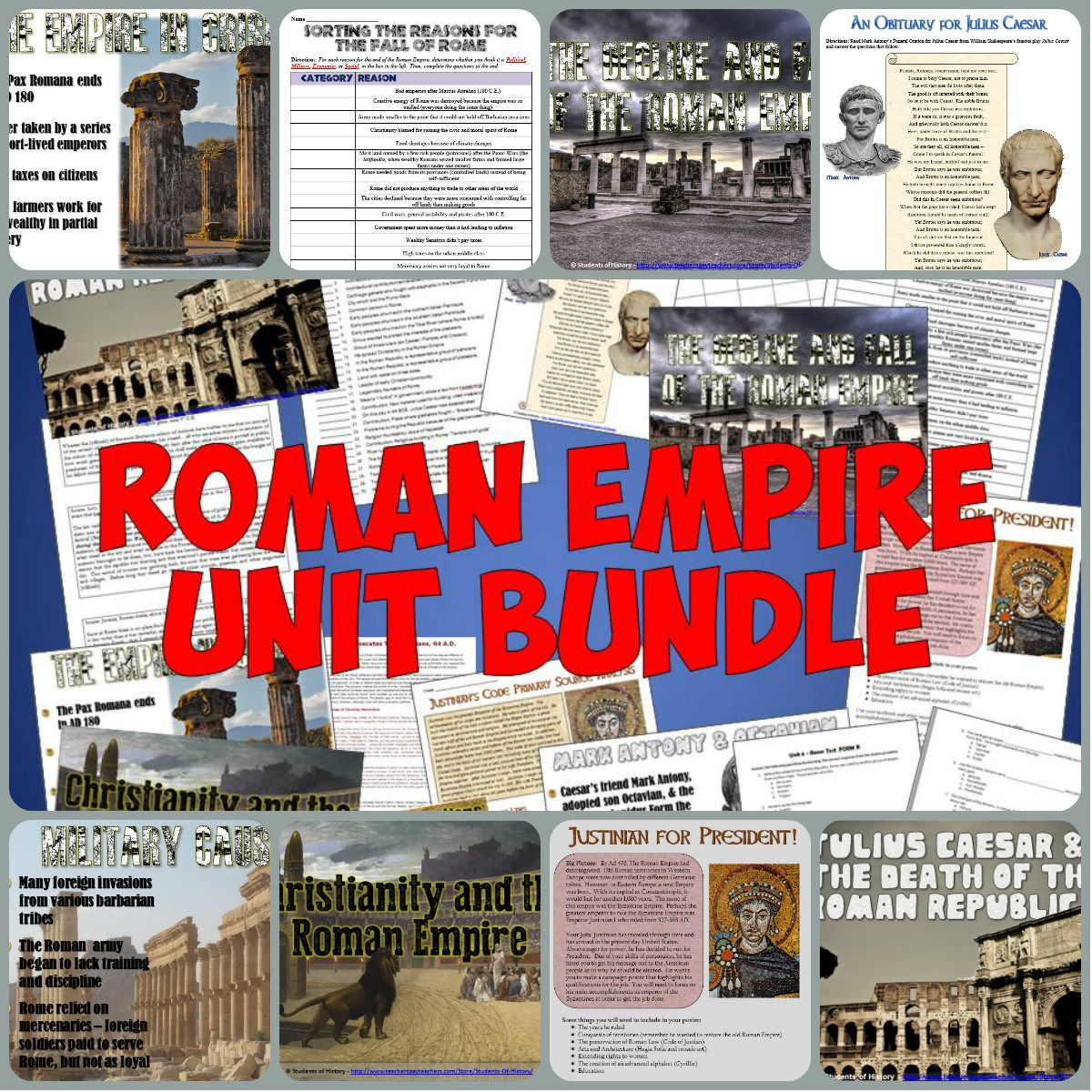 Ancient Rome Complete Unit Bundle