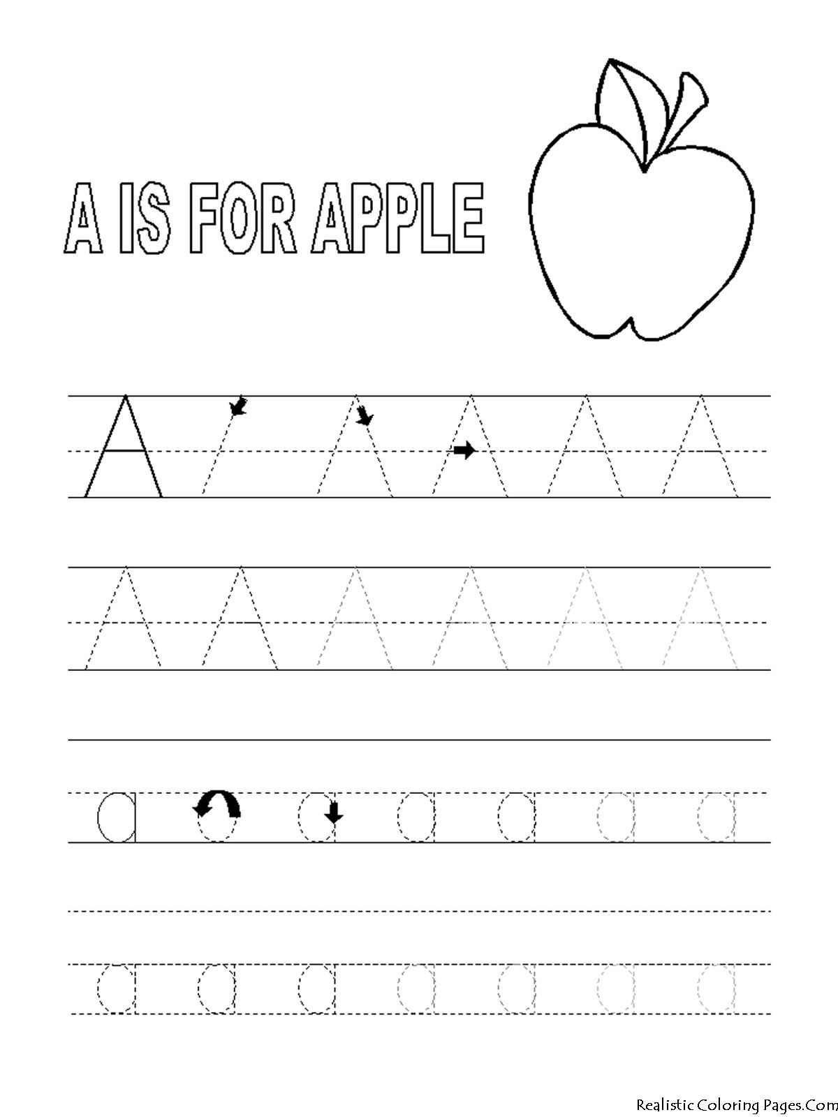 Coloring Pages Preschool Abc Printables