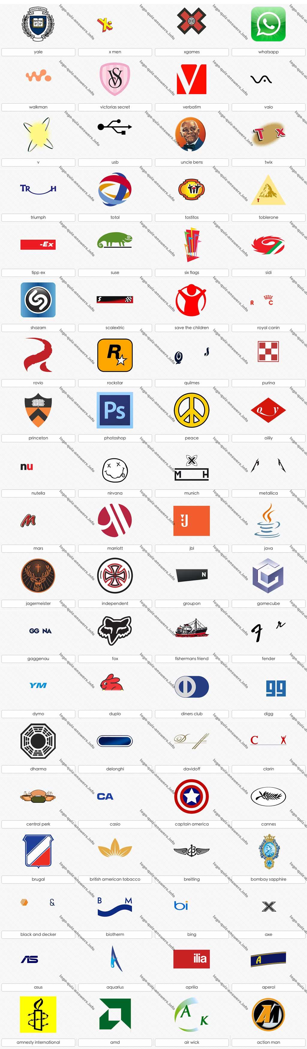 Logo quiz answer level 11 Video games I play Pinterest