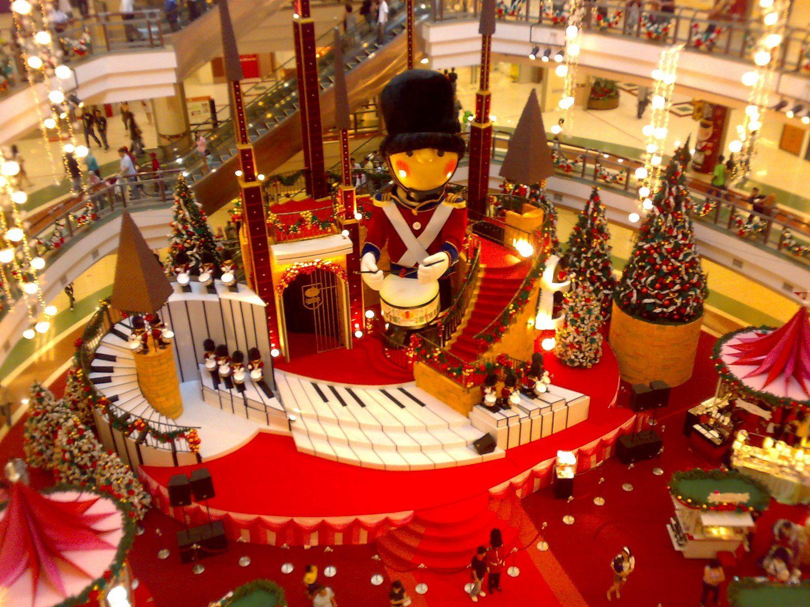 Christmas all around Kuala Lumpur shopping mall