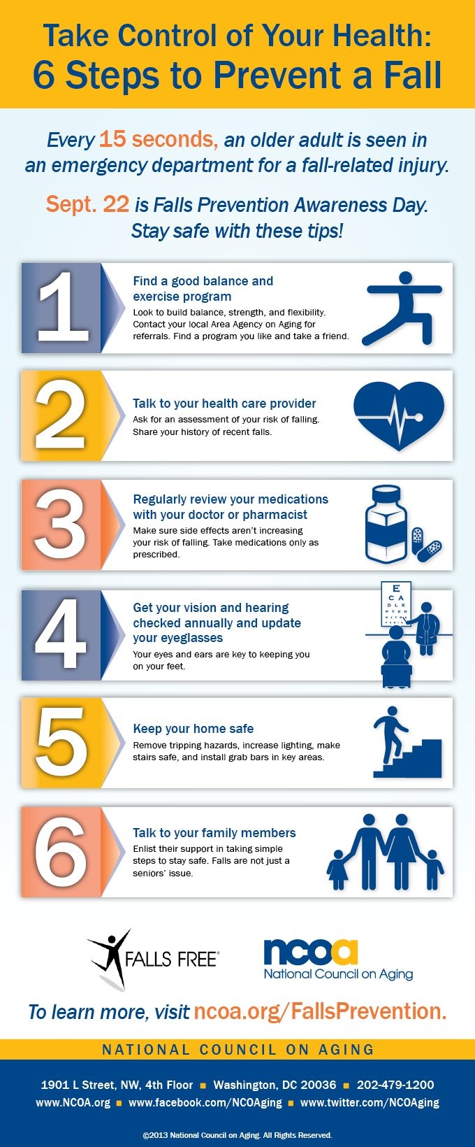 Take Control of Your Health 6 Steps to Prevent a Fall