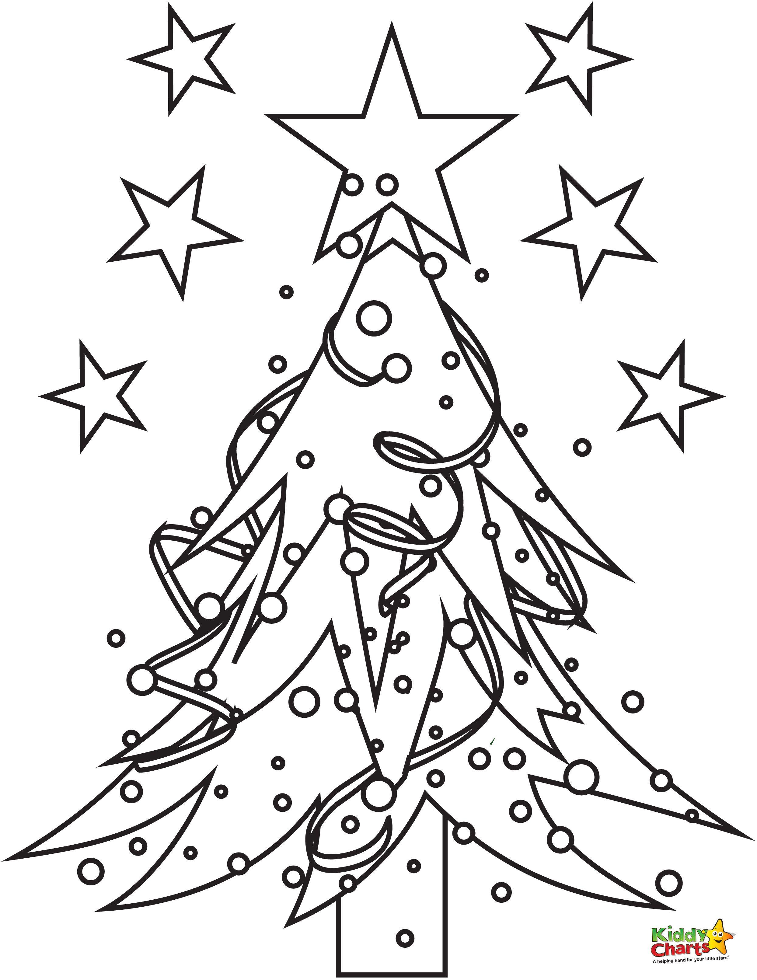 Christmas Tree Coloring Page Christmas Tree Sunday School And