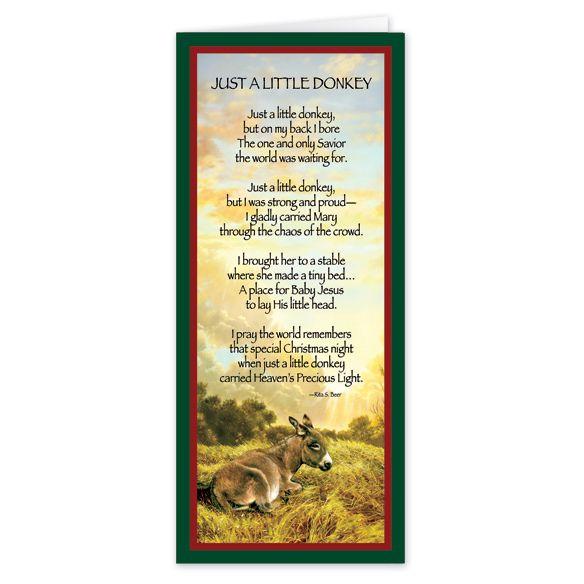 Little Donkey Christmas Card CHRISTmas Pinterest