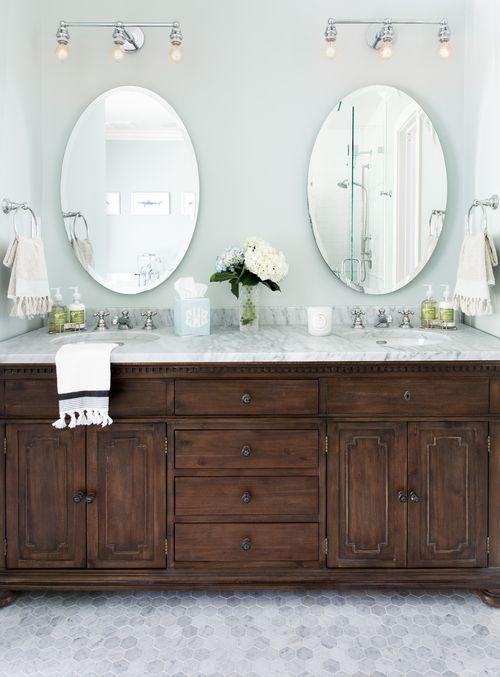 restoration hardware st. james double vanity | bathrooms