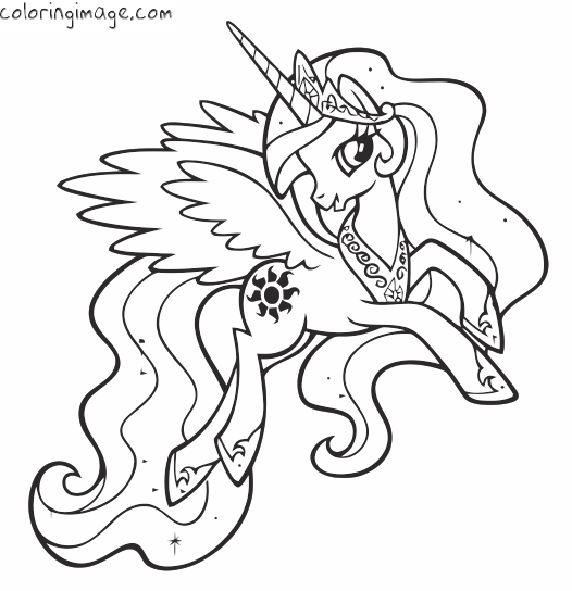 My little pony Coloring page (Princess Celestia) My