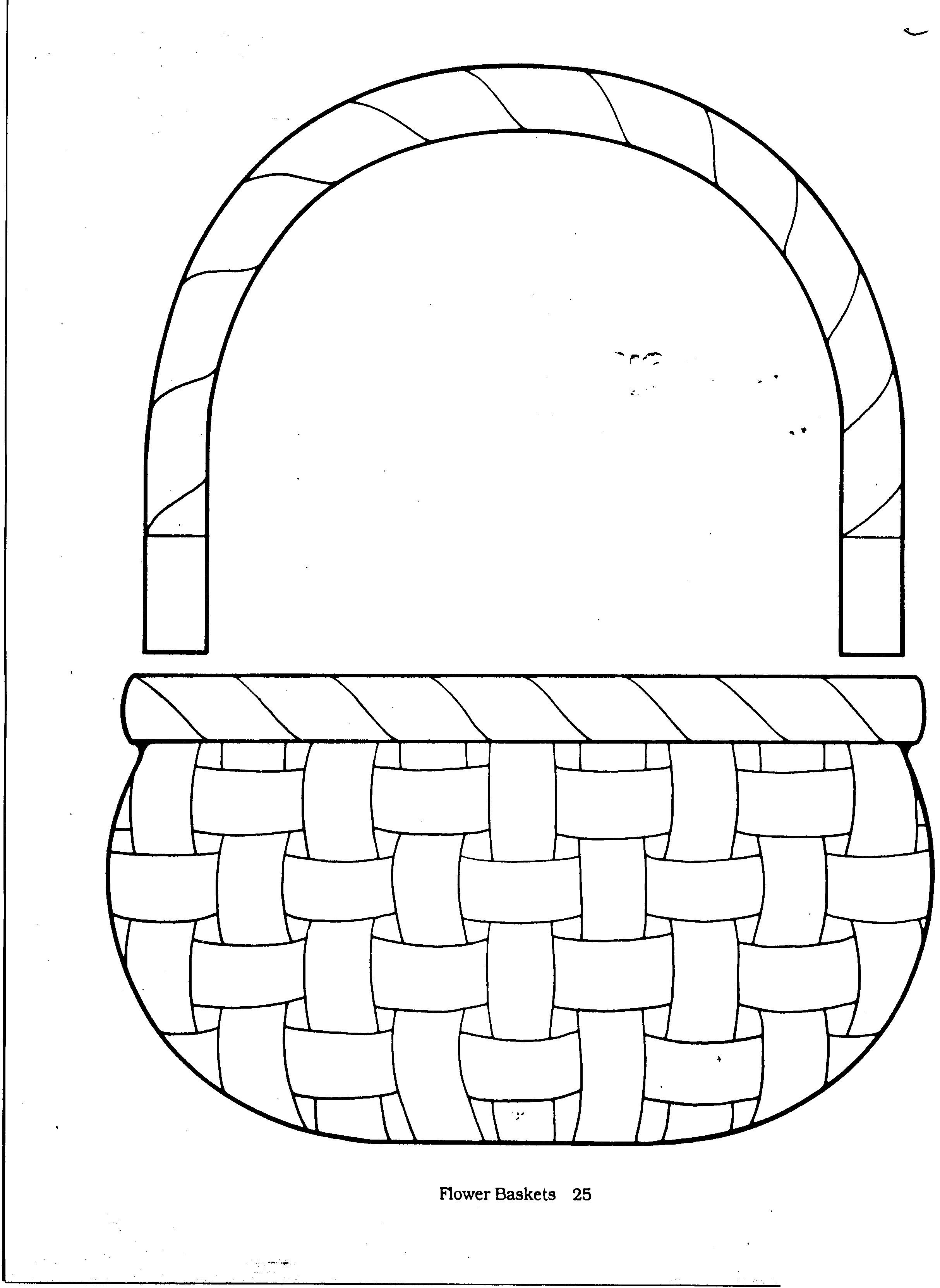 Easter Preschool Basket Cut Out