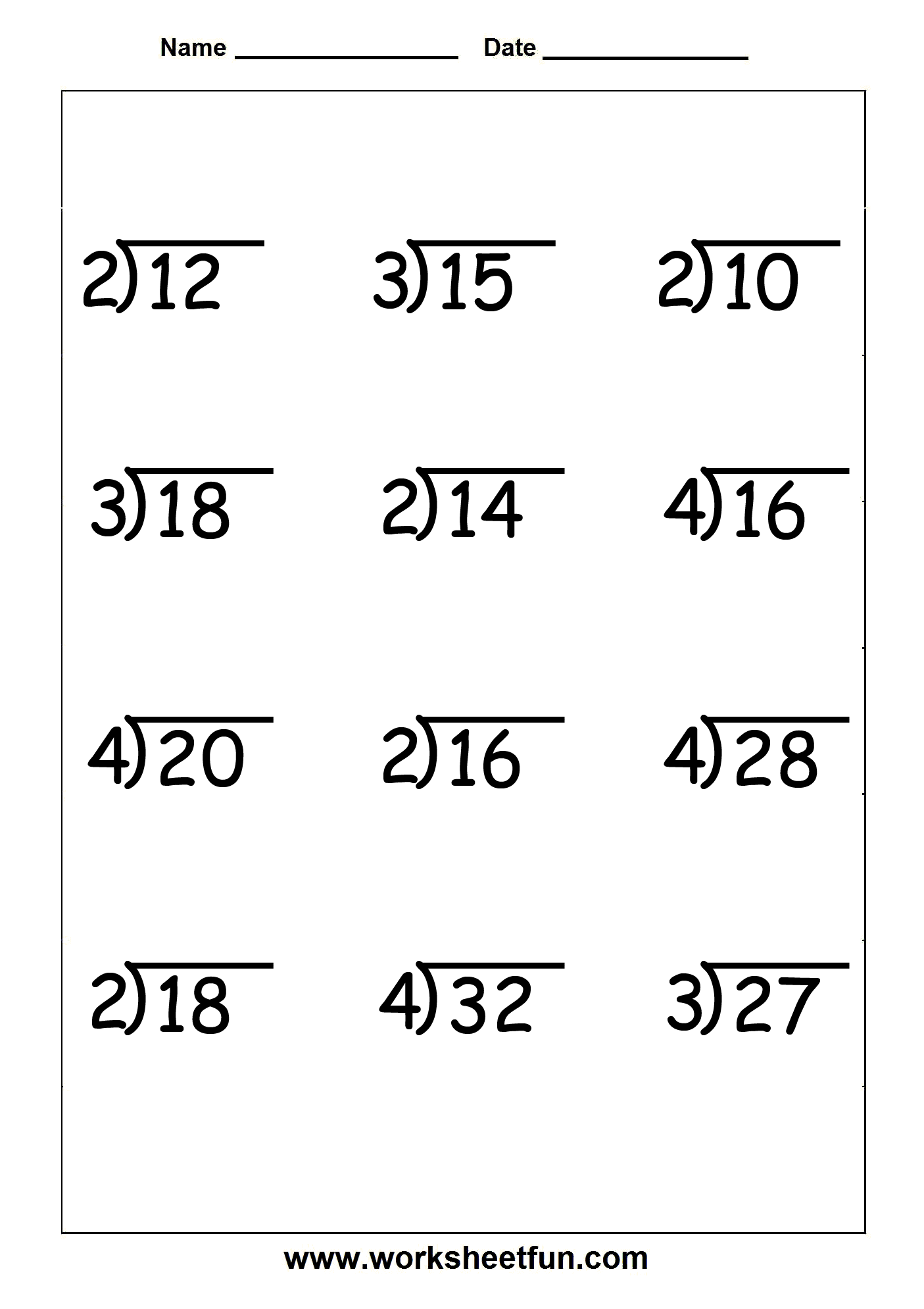 Long Division Worksheet K5 Learning