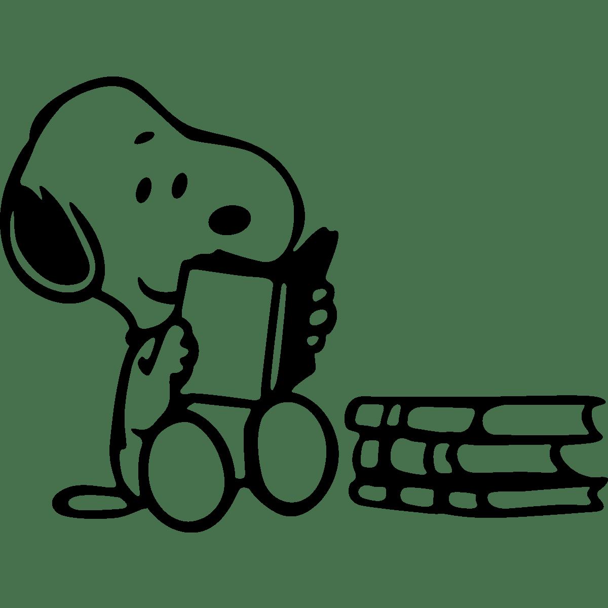 Snoopy Reading