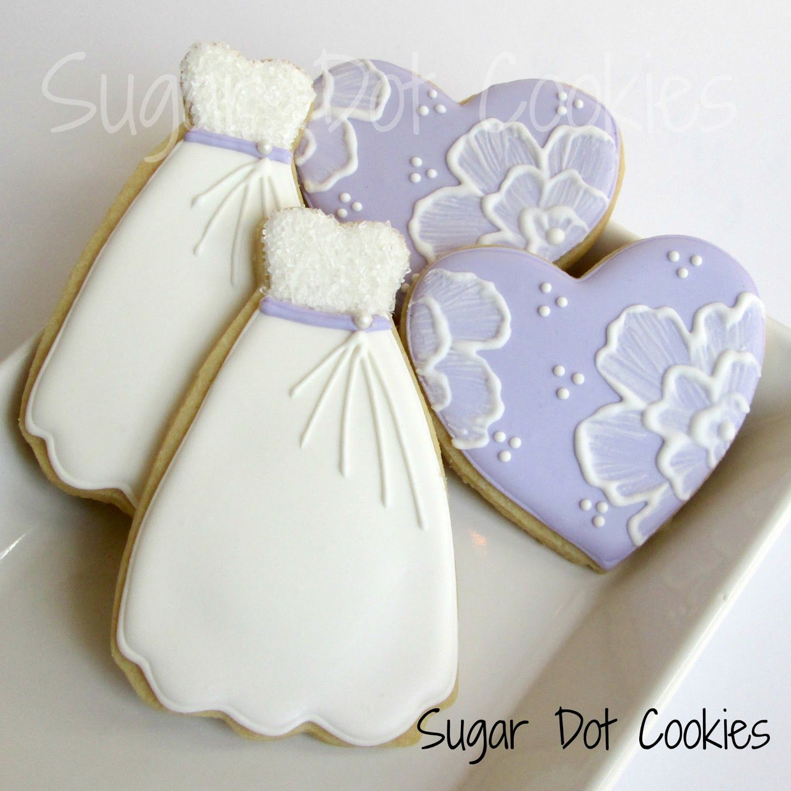 how to decorate a wedding dress cookie cutter Sugar Dot