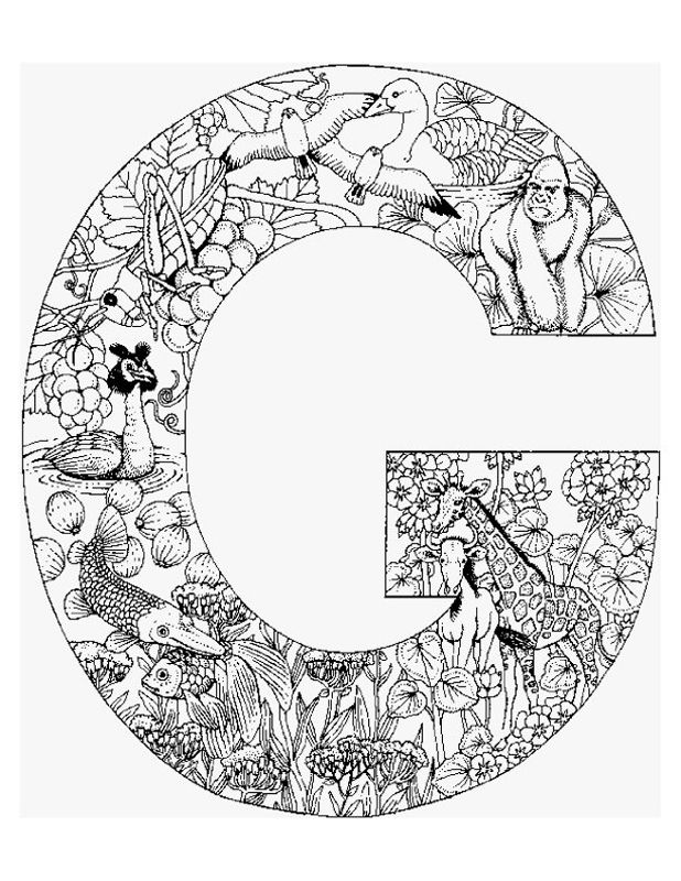 Alphabet Animal Coloring Pages G pug love Pinterest