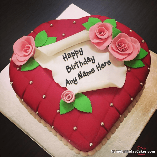 Most Beautiful Birthday Cake With Name And Photo Editor