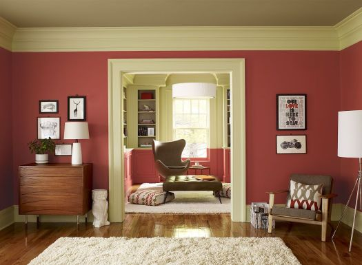 Paint Color Schemes Crisp C Living Room