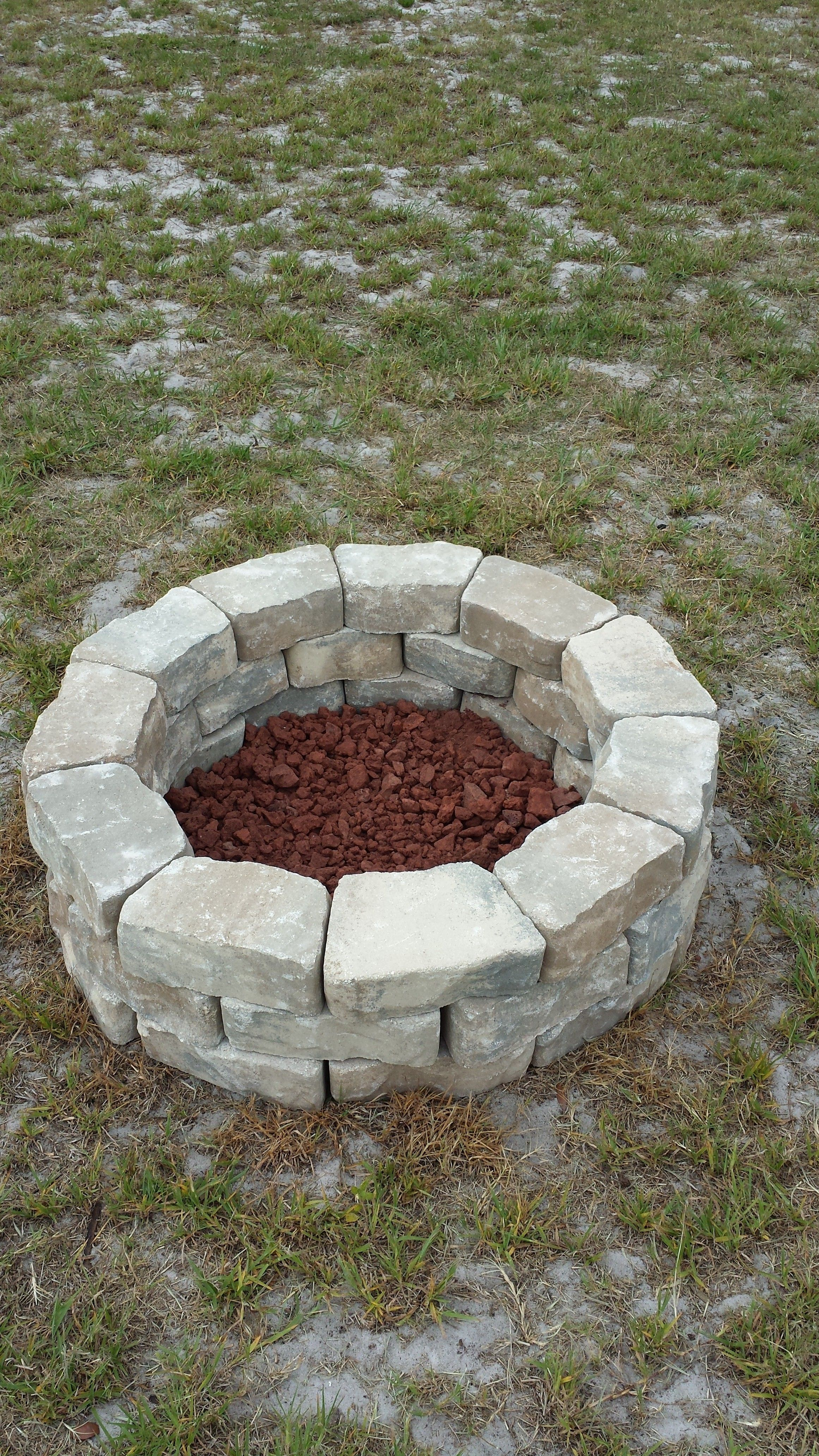 Do it yourself fire pit. Easy & Cheap. Fire Pit