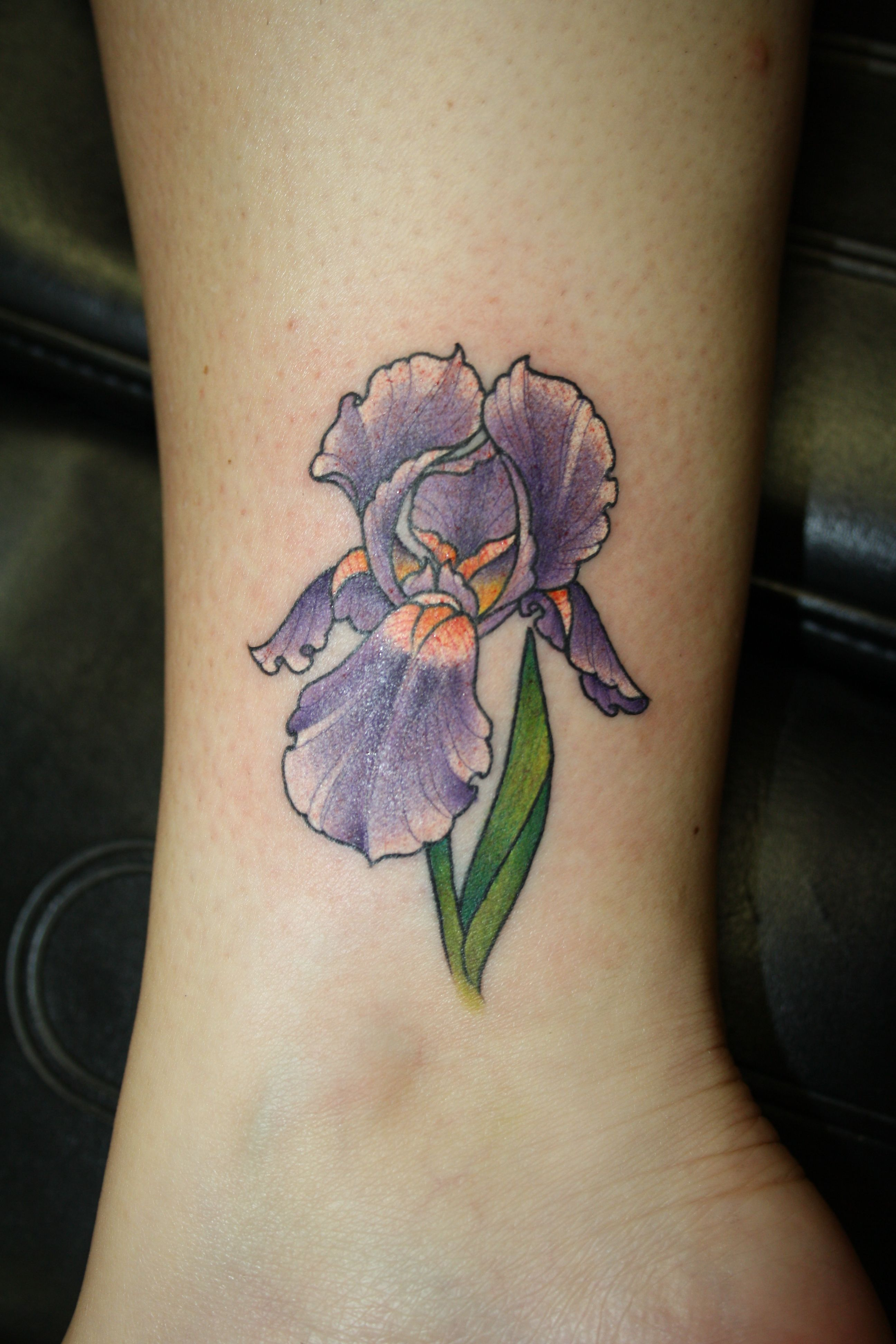 iris tattoo, finally settled on the flower, now the three