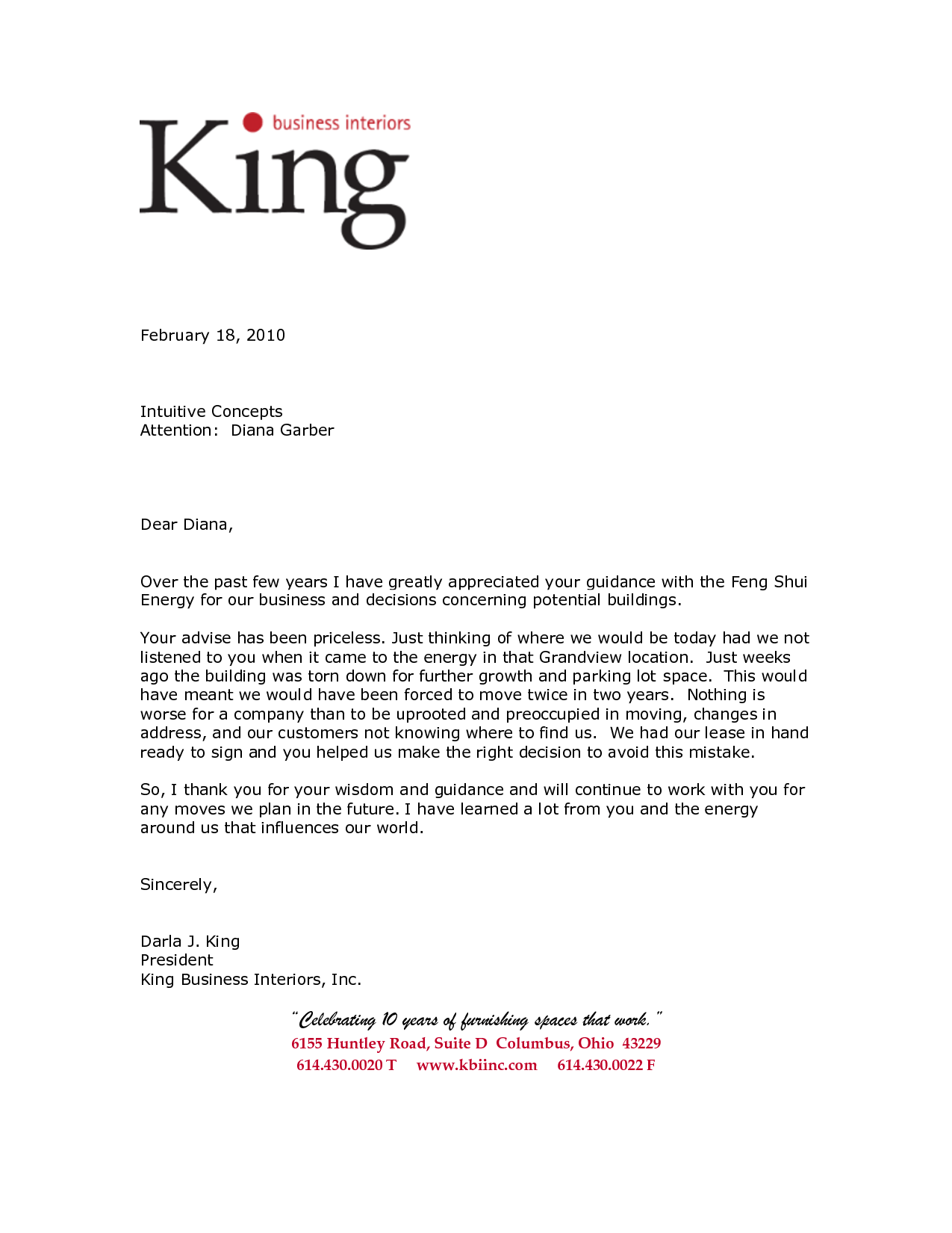 Business Letter of Reference Template King Business