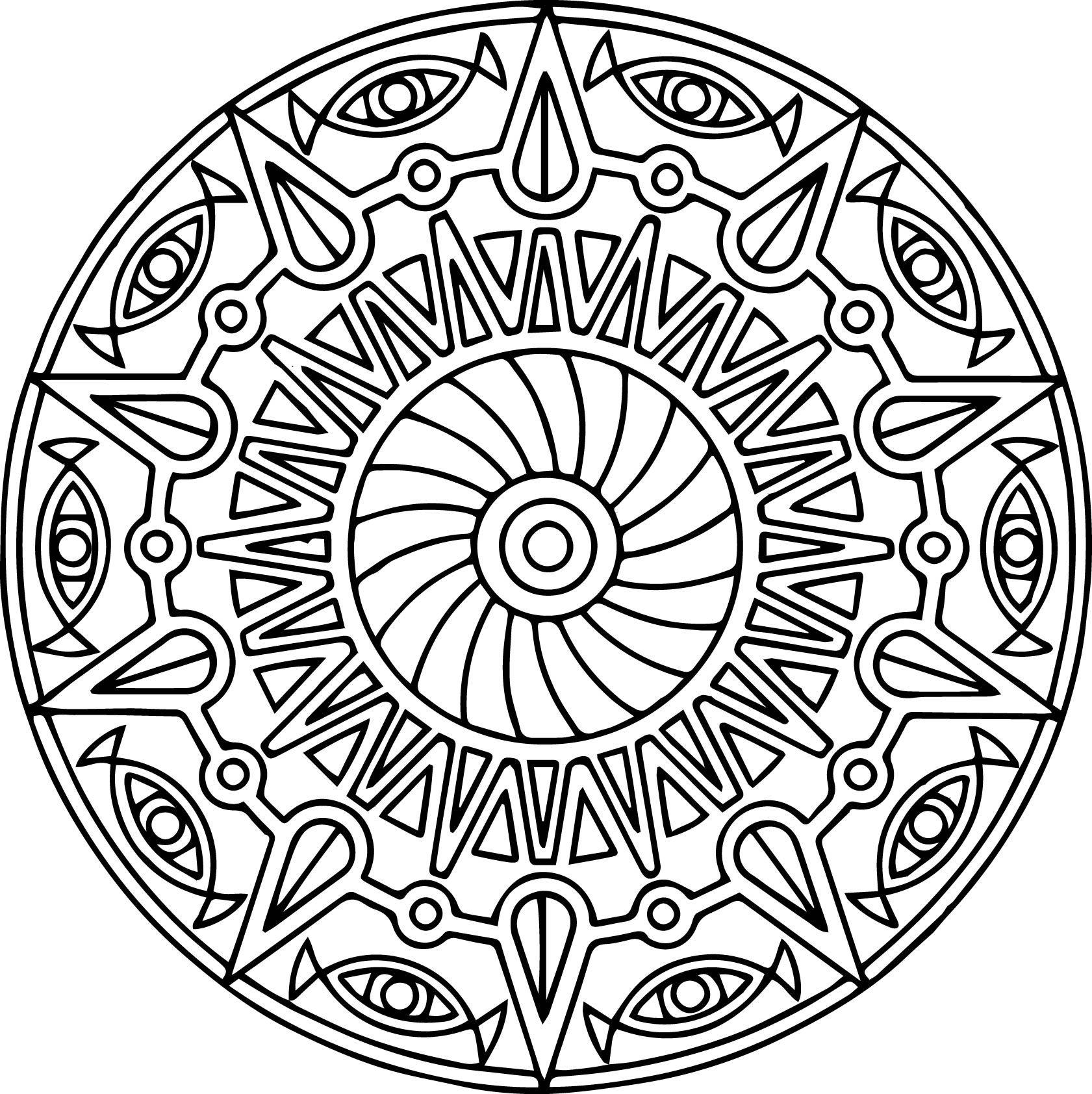 Cool Mandala Coloring Pages