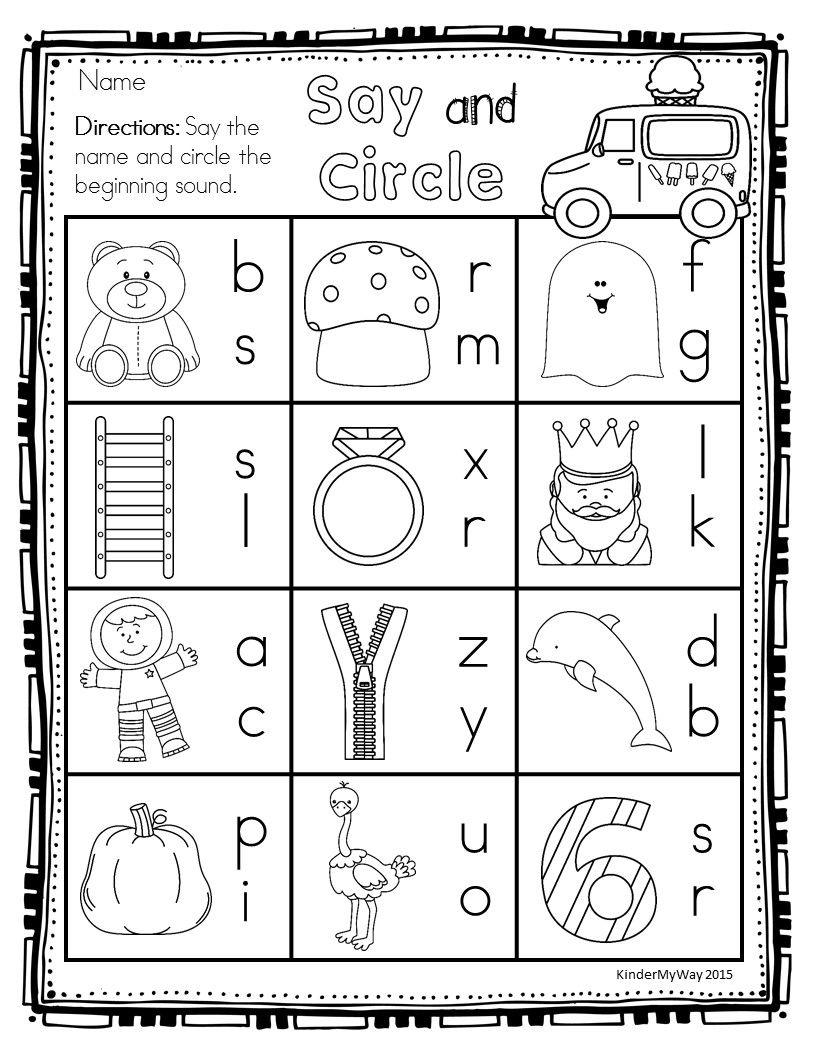 Preschool Summer Printables {NO PREP} Writing letters