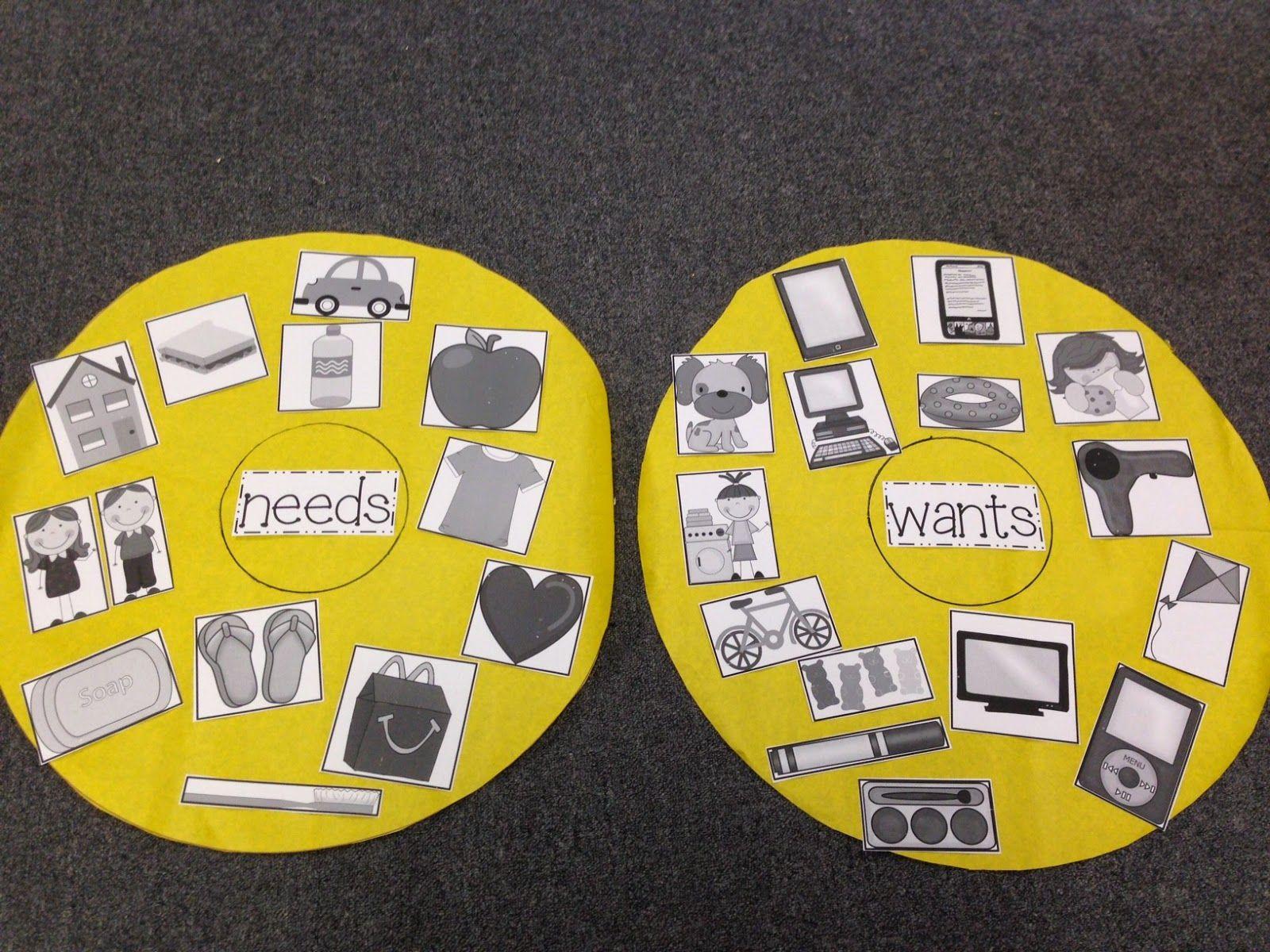 Chalk Talk A Kindergarten Blog Science Needs Vs Wants Activity