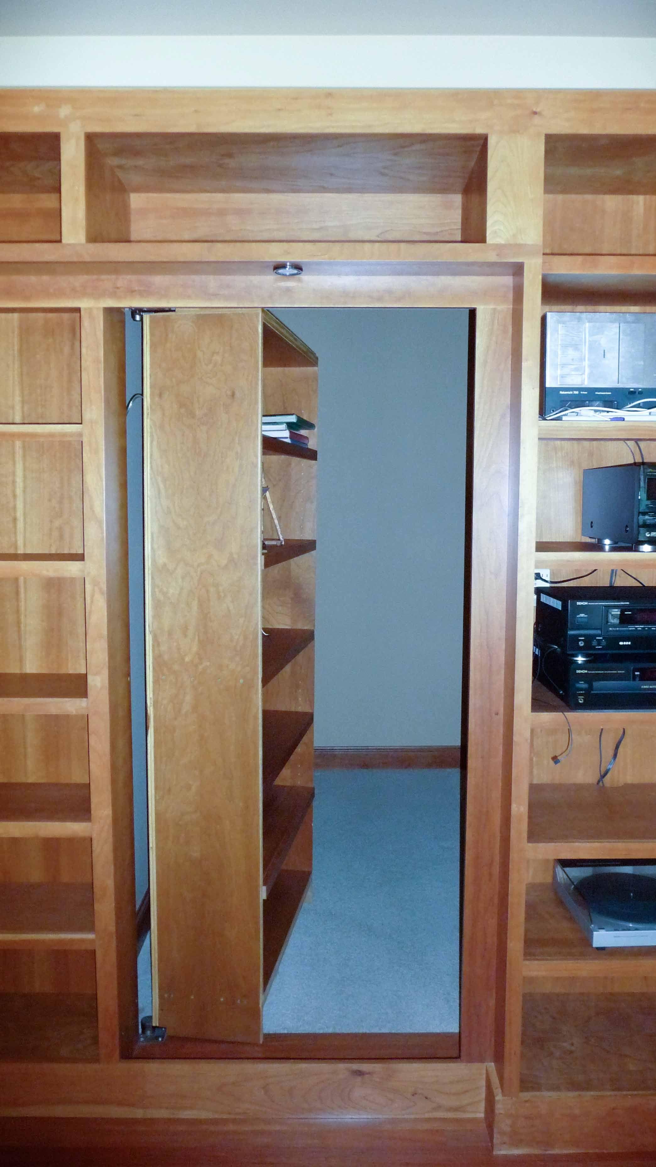 Hidden Bookcase Door Hideout In Your Panic Room