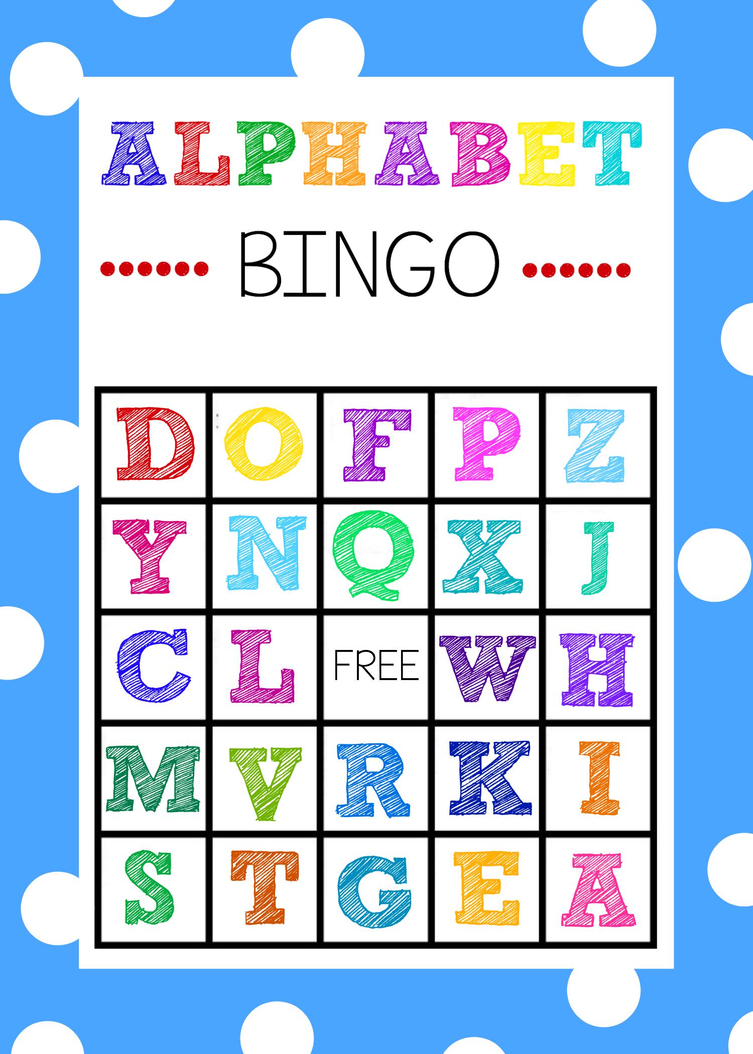 Free Printable Alphabet Bingo Game Alphabet bingo, Abc
