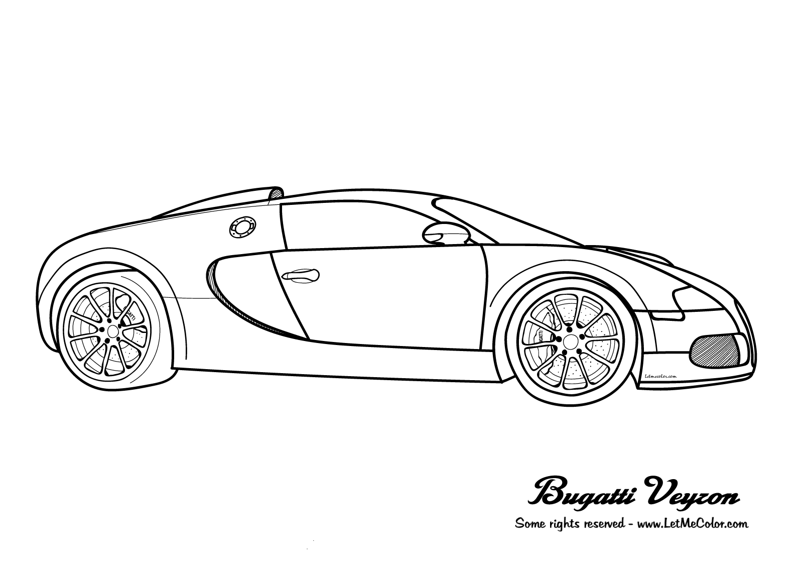 Cars Coloring Page Bugatti Veyron