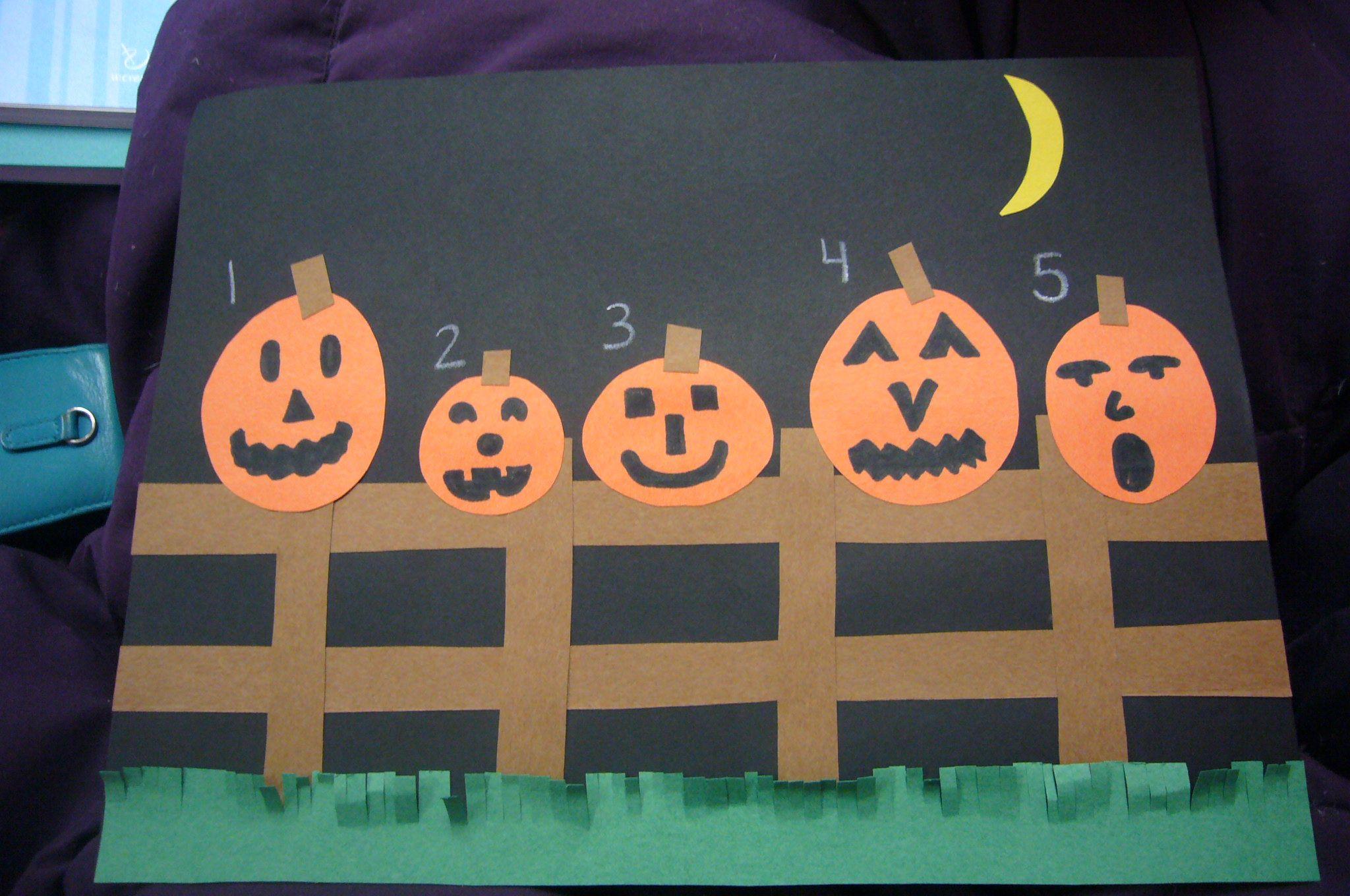 5 Little Pumpkins Lesson