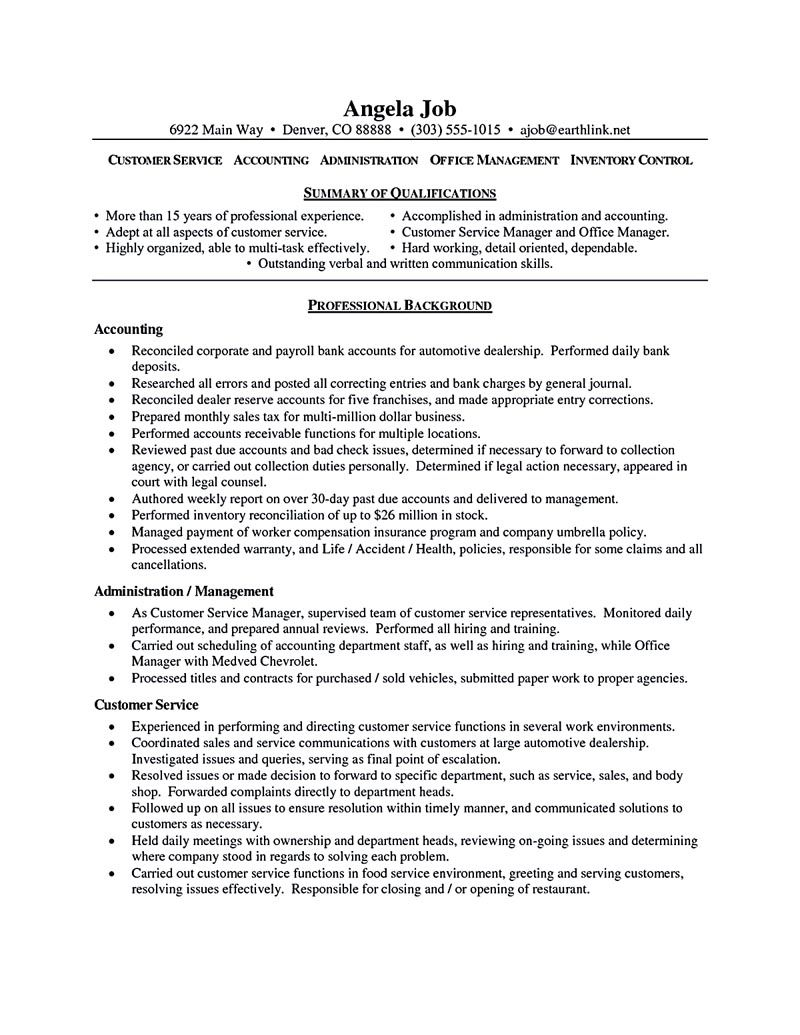 customer service resume sample Customer service resume