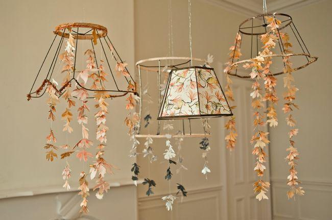 Wedding Inspiration With Tangerine Tango Paper Chandelierflower