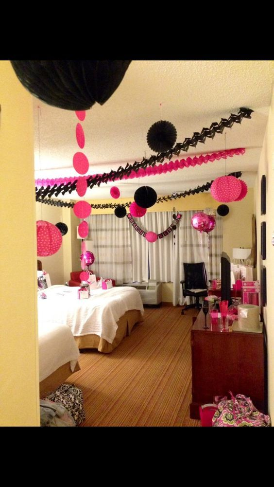 Decorate A Hotel Room For Your Bachelorette Party What A Good Idea Bachelorette Party