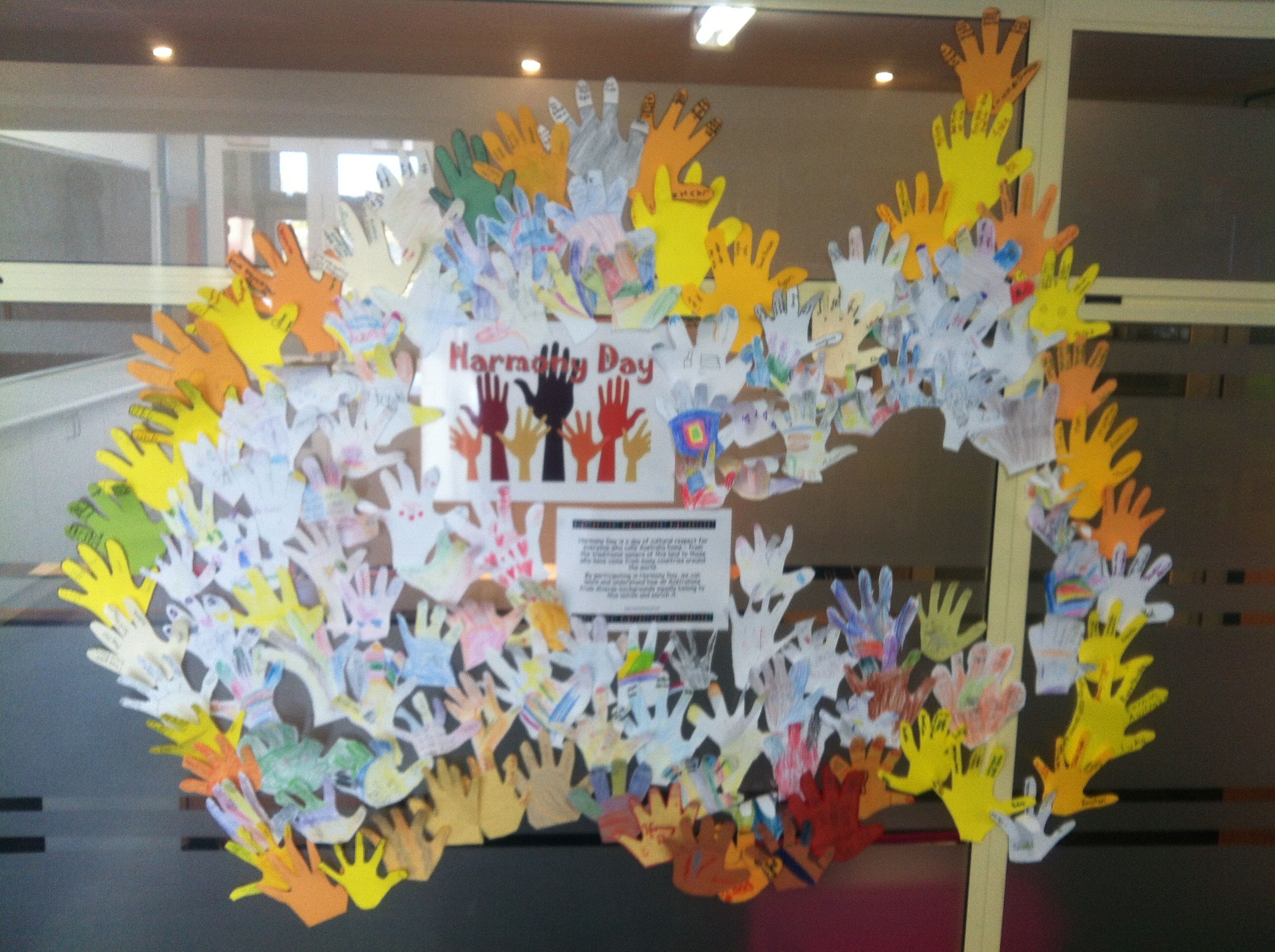 Celebrating Harmony Day In Australia With Cut Out Of The Children S Hand Each Finger Has