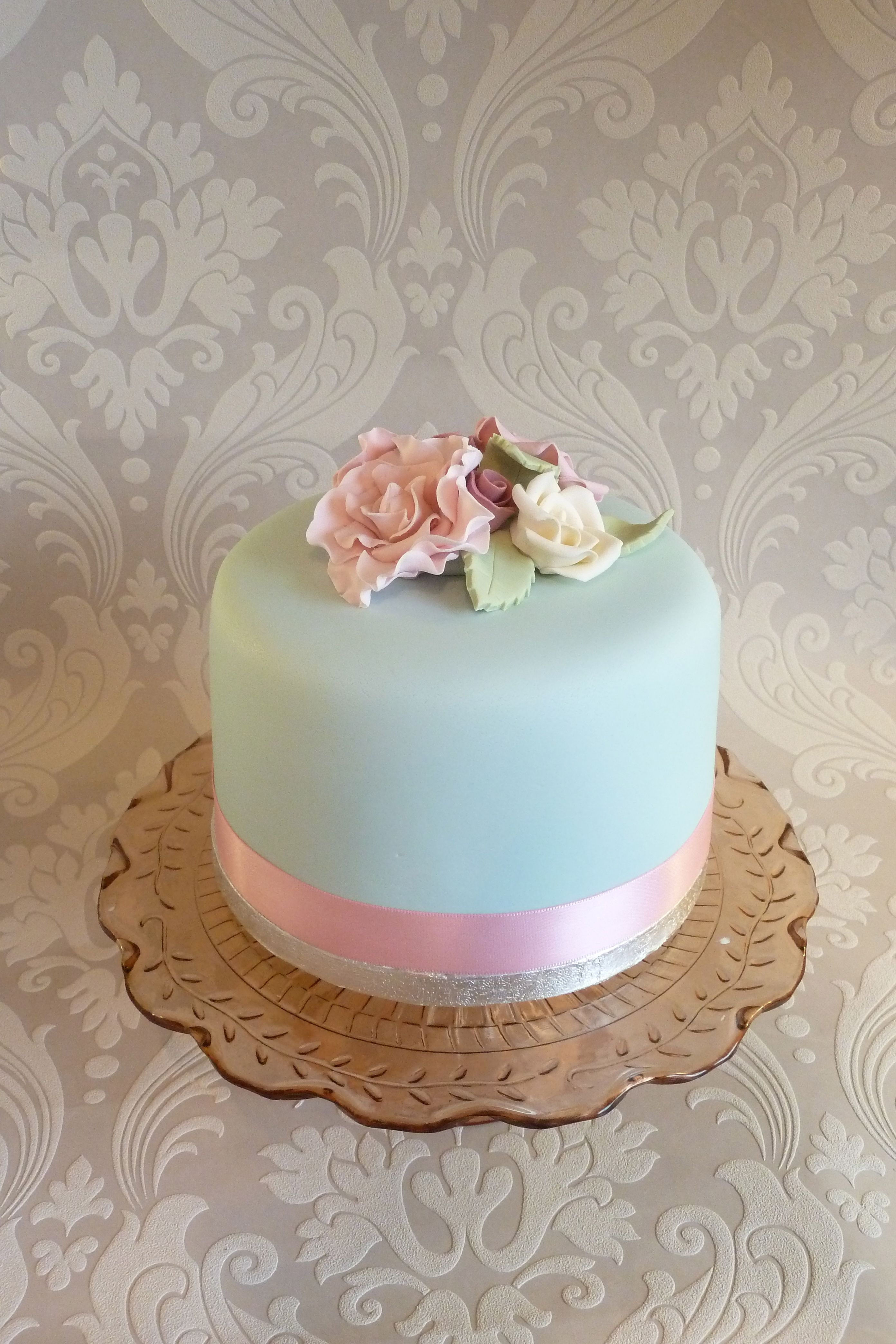 floral vintage inspired Single Tier Cake ♨ Cakes, Cakes