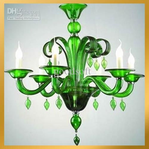 K9 Green Crystal Pendant Lamp Chandelier Classic Murano Glass Craft Light Ceiling