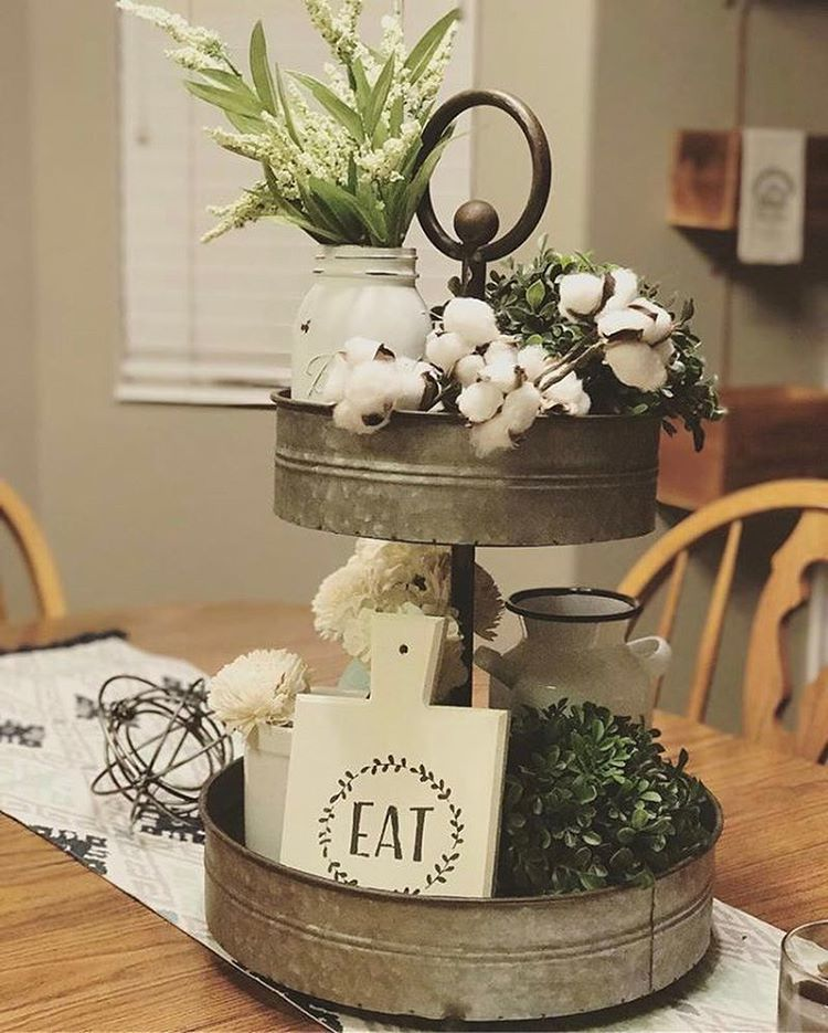 What a beautiful styling of our 2Tiered Metal Tray