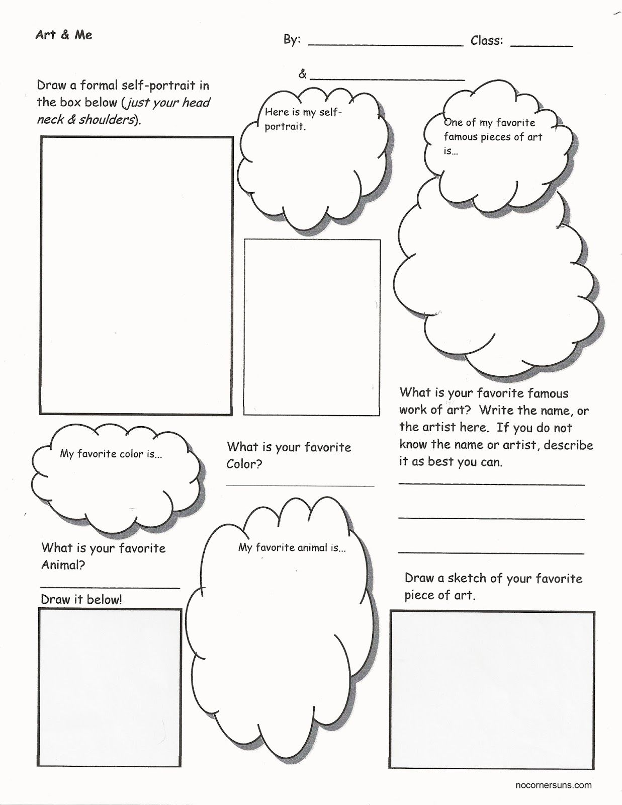 Art Me I Getting To Know You Worksheet That Helps