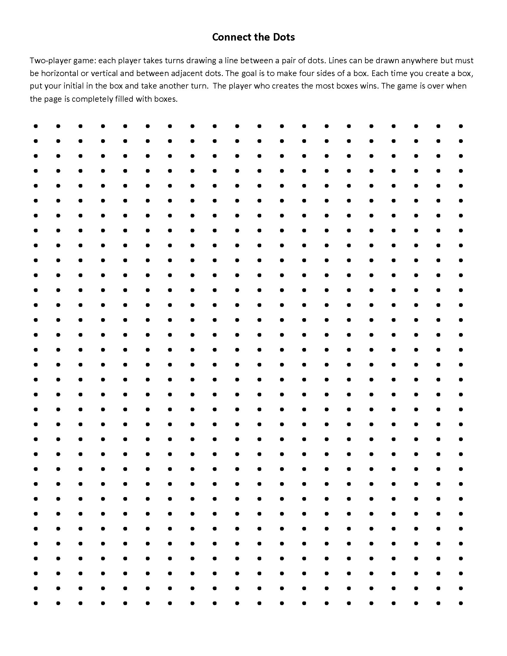 Dot To Dot Fractions Worksheet