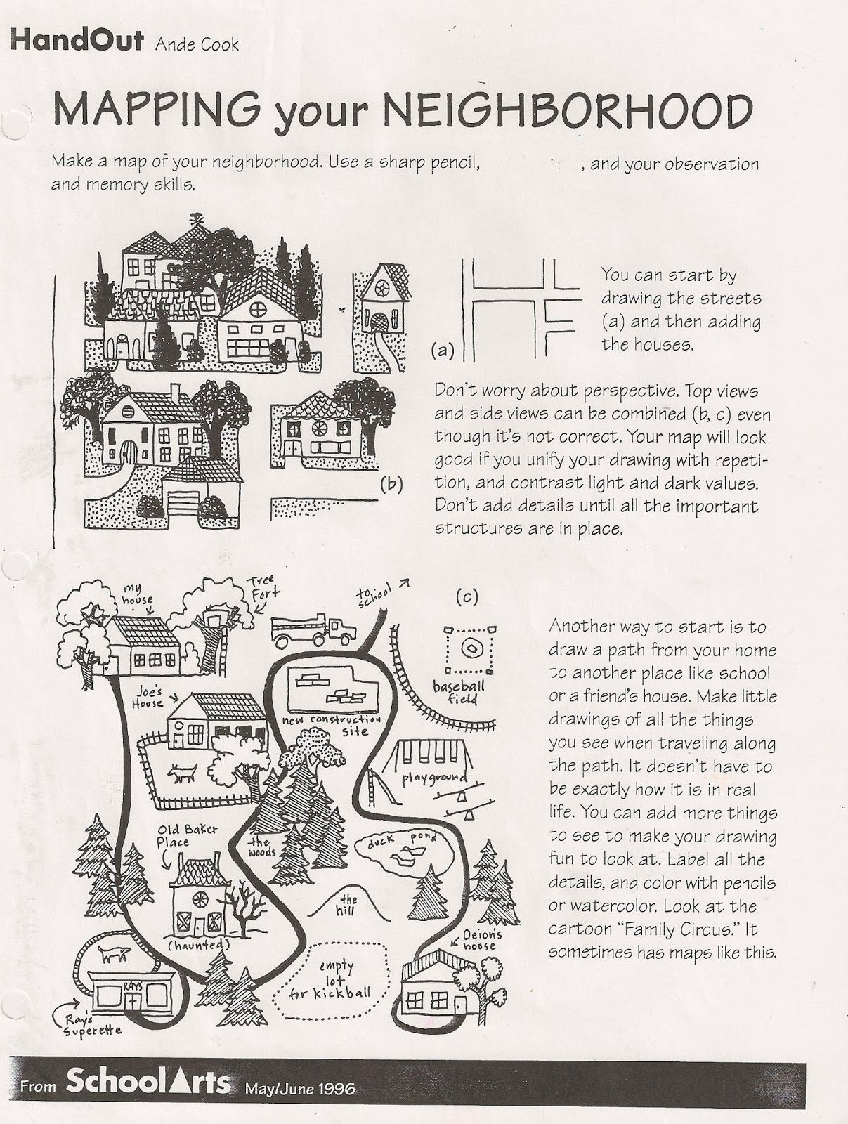 Free Ande Cook S Mapping Your Neighborhood Handout And