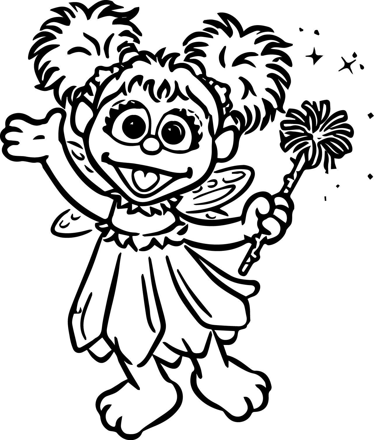Tattly Sesame Street Characters Abby Cadabby Grande