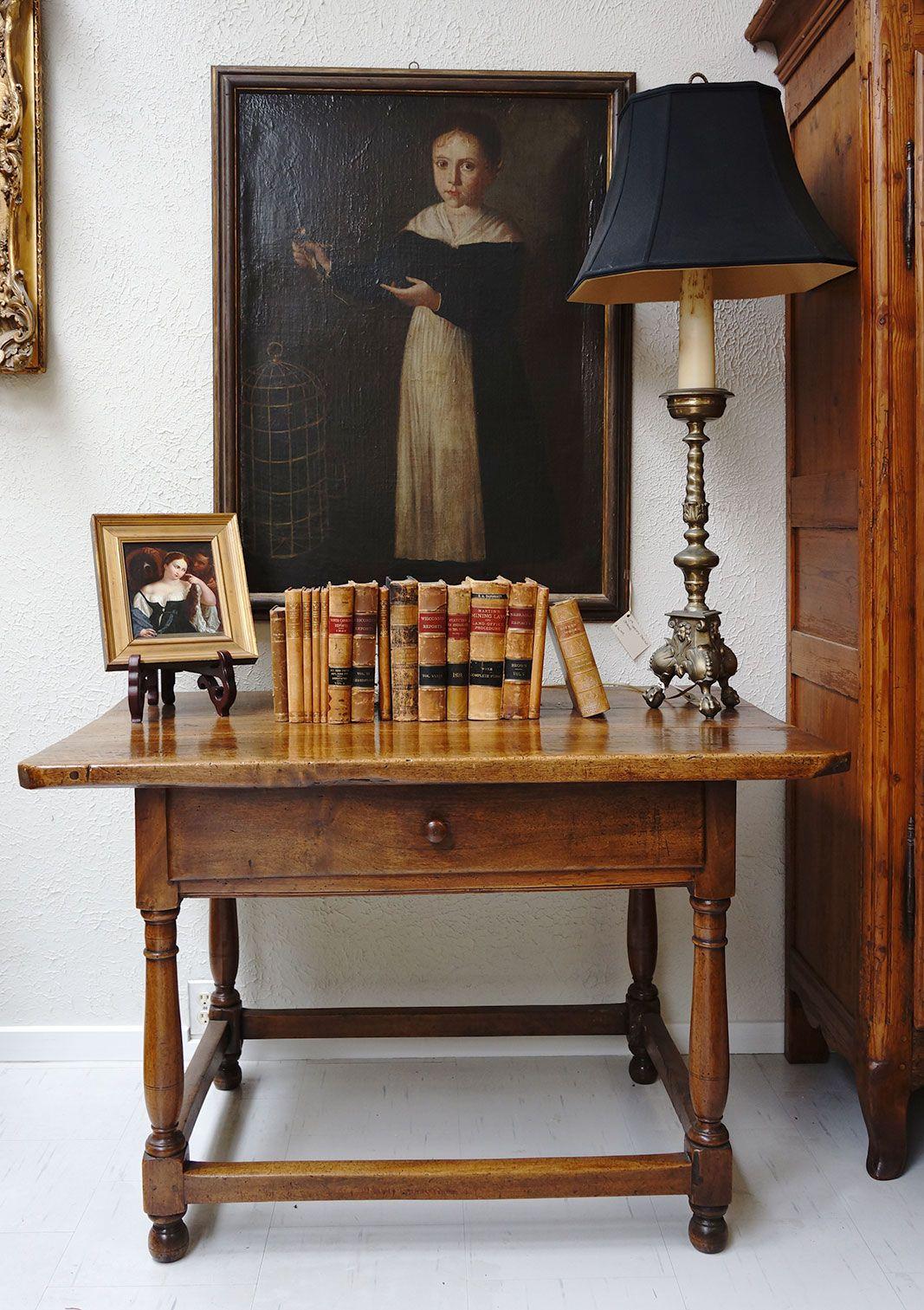 Beautiful Walnut table. Hildegunn Hawley Fine Antiques in