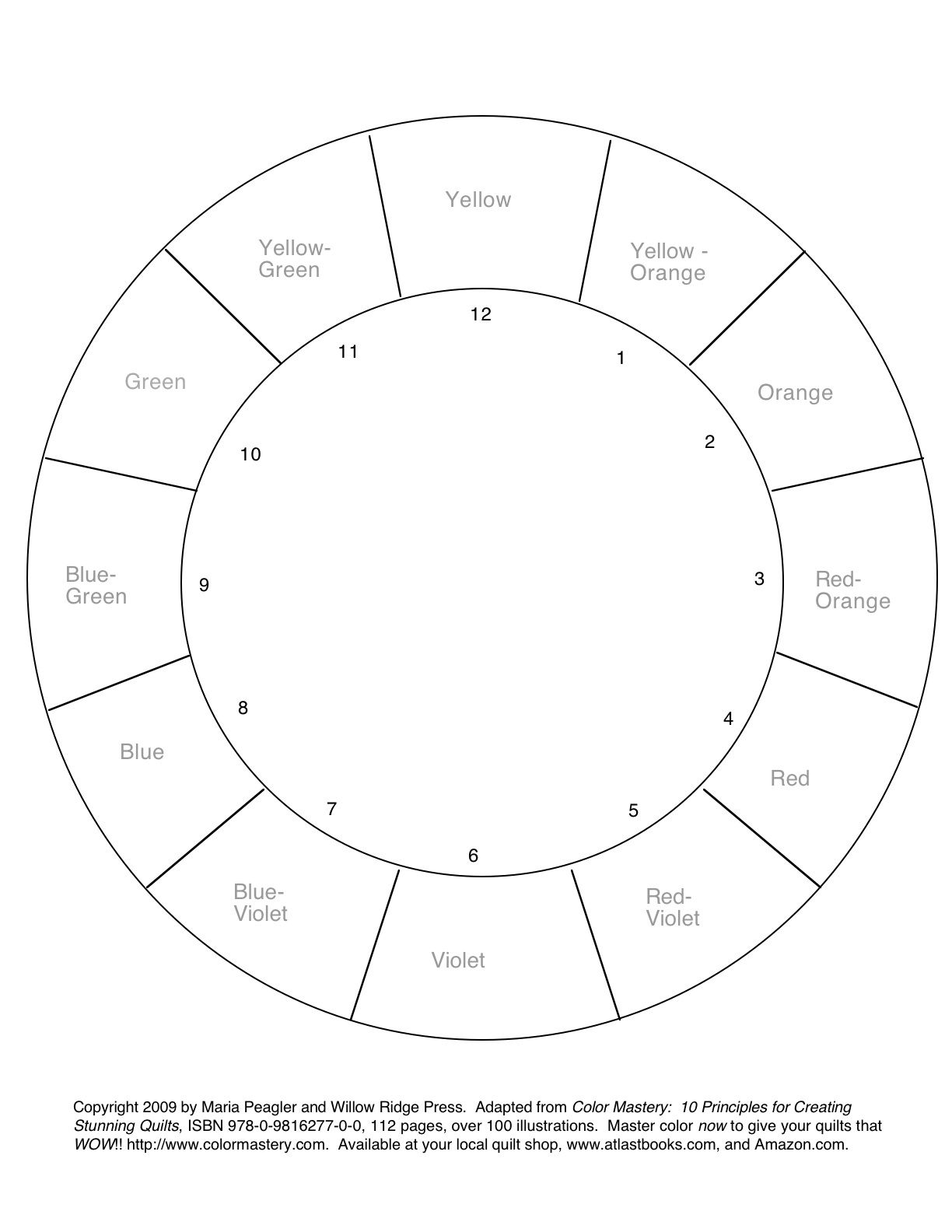 Color Wheel Coloring Pages 158