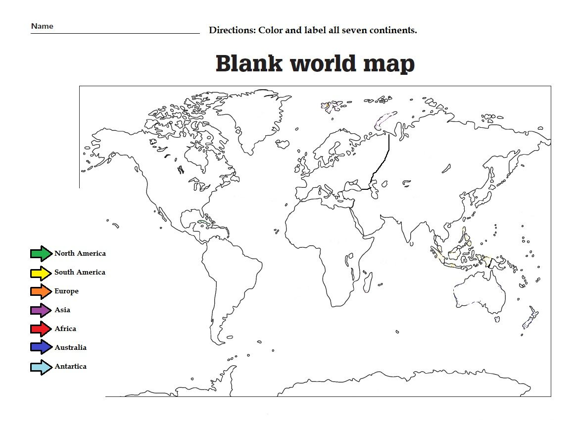 Locating Continents And Oceans Worksheet