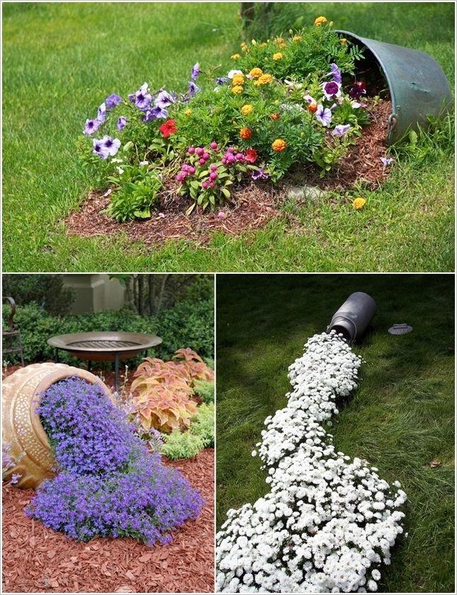 Cool Spilled Flower Beds Gardening !dea Pinterest