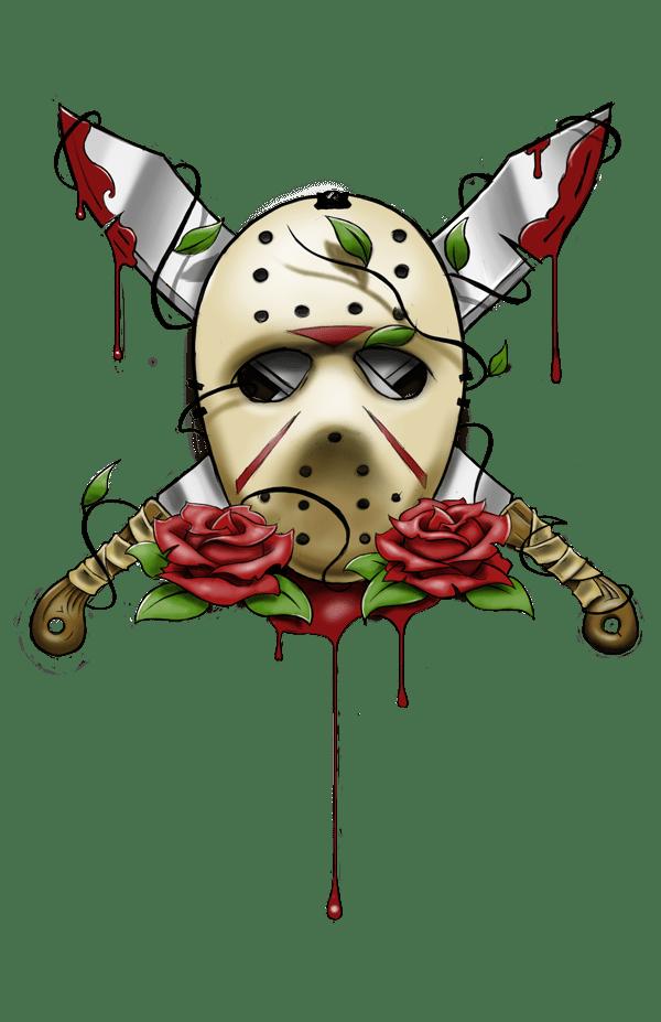 jason vorheess artwork Jason Voorhees Mask Tattoo by