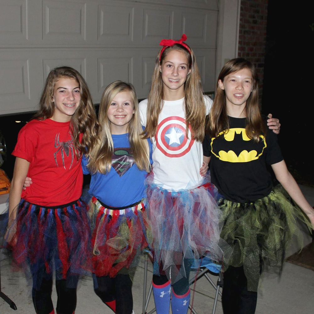 teen Girl Tween girl power costume idea DIY easy group