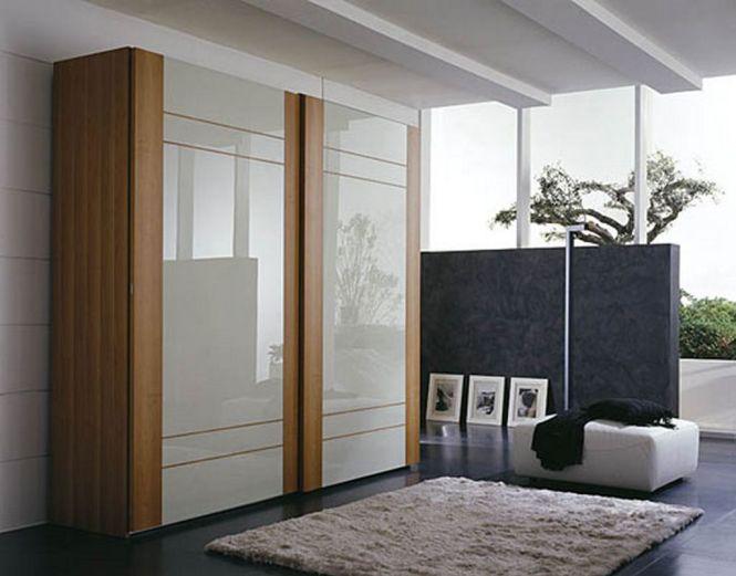 Wooden Bedroom Wardrobe Sliding Door With Modern Cupboard Design